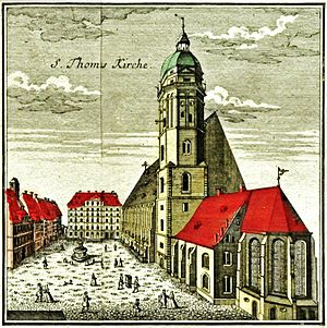 Thomaskantor - Thomaskirche, one of four churches for which the director of music was responsible, in 1749