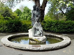 Joseph Wackerle - The Three Fates in St Stephen's Green, Dublin, donated by the German government in thanks for Operation Shamrock.