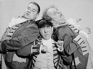 Joe DeRita - With Moe Howard and Larry Fine in 1959