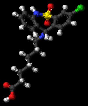 Tianeptine - Image: Tianeptine molecule ball