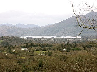 Lén - A view of Loch Léin (middle distance). The mountains are MacGillycuddy's Reeks