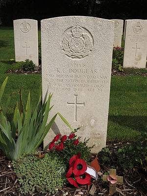 Keith Douglas - Keith Douglas' grave, in Tilly-sur-Seulles War Cemetery