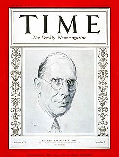 Charles F. Kettering American inventor, engineer, businessman, and the holder of 140 patents