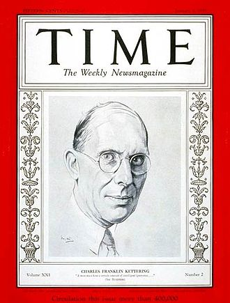 Charles F. Kettering - Charles Kettering, on a Time cover, 1933