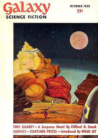Galaxy Science Fiction - David Stone's cover for the first issue of Galaxy