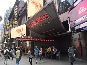 Times Square–42nd Street/Port Authority Bus Terminal (New York City Subway) - Image: Times Square 42nd Street Entrance