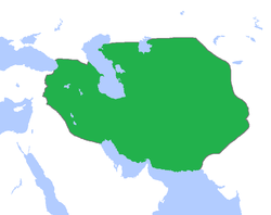 The Timurid Empire in 1405.