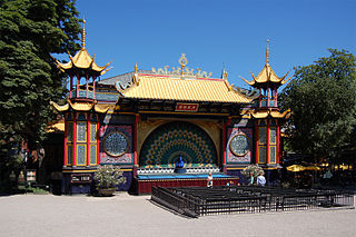 open-air theatre in the Tivoli Gardens in Copenhagen, Denmark