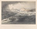 To His Royal Highness the Duke of Cambridge - the storm in Balaklava Bay on the 14th Nov, 1854, during which H.R.H. was on board H.M. steam frigate Retribution. Colnaghi's authentic series RMG PY0929.jpg