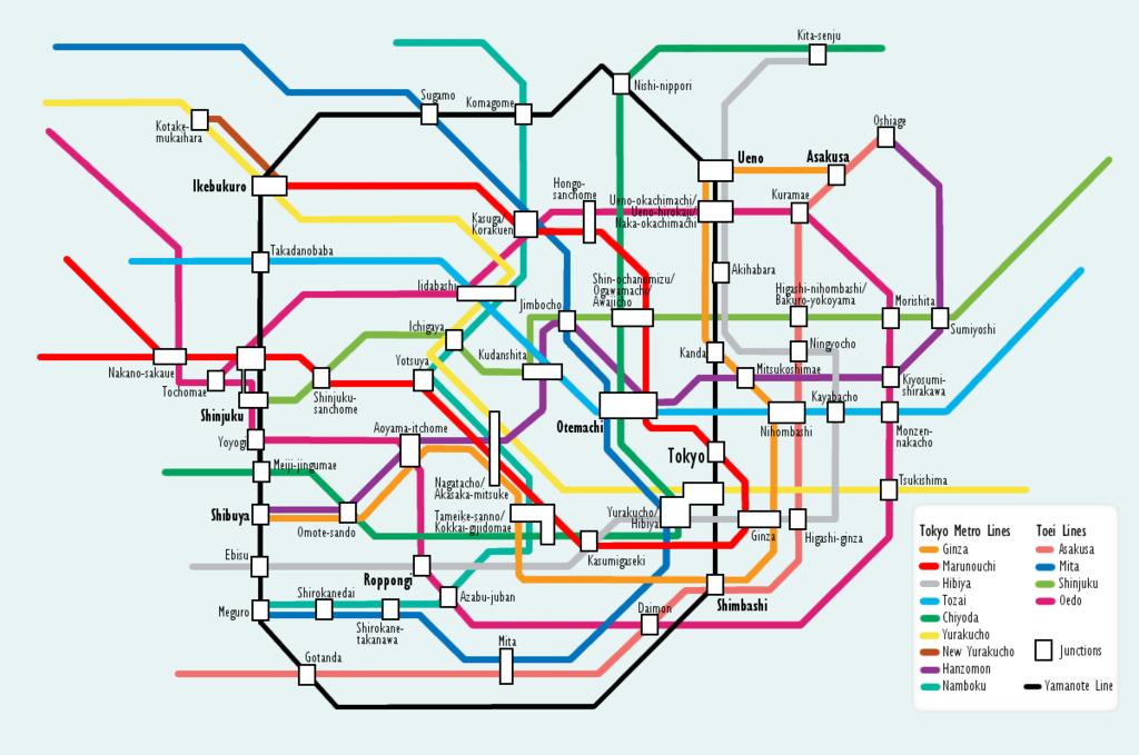 file:tokyo subway map.png - 维基百科,自由的百科