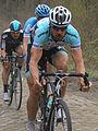 Tom Boonen, Johan VanSummeren, Bernie Eisel - 2012 Paris–Roubaix.jpg