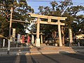 Toriis of Umi Hachiman Shrine and Stele for Emperor Ojin's Birth 5.jpg