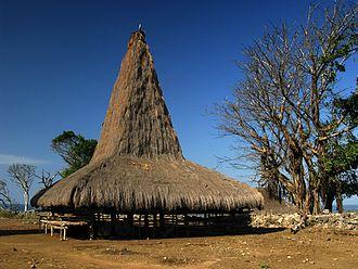 Sumba people - A traditional Sumba house in Ratenggaro village, West Sumba, Indonesia.