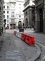 Traffic barrier in Lombard Street - geograph.org.uk - 1758342.jpg