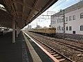 Train in Shimonoseki Station from platform No.9.jpg