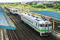 Trains at JR Hokkaido Oshamambe Station Platform 3.jpg