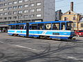 Tram 143 at Viru Stop in Tallinn 6 April 2015.JPG