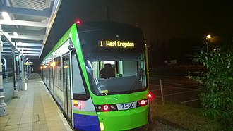Elmers End station - Tramlink Variobahn tram