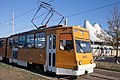 Tram in Sofia in front of Central Railway Station 2012 PD 077.jpg