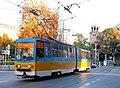 Tram in Sofia near St Nedelya Church 2012 PD 009.jpg