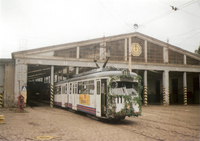 Tram station in Niemierzyn Poland