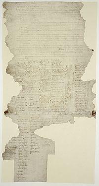 One of the few extant copies of the Treaty of Waitangi