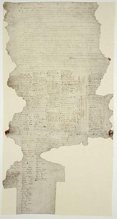 A torn sheet of paper