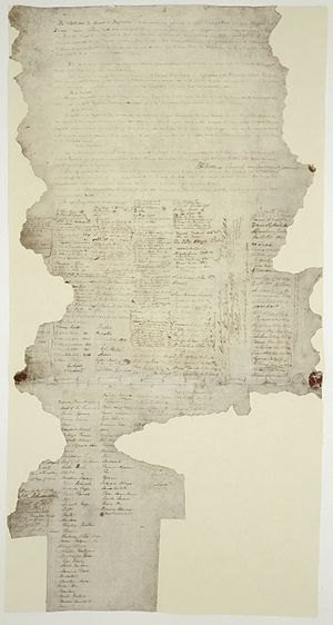 Treaty of Waitangi - One of the few extant copies of the Treaty of Waitangi
