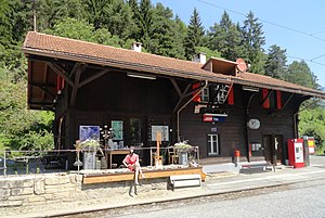 Trin (Rhaetian Railway station) - Image: Trin Bahnhof