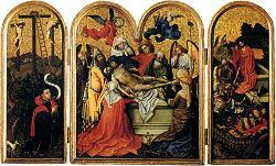 Robert Campin: Triptyque de l'enterrement du Christ