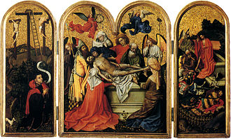 Robert Campin - The Seilern Triptych, c. 1425. One of two of Campin's surviving triptychs.