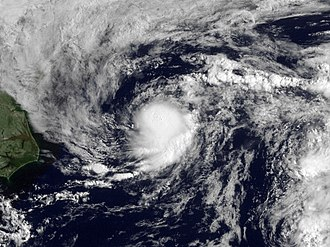 2009 Atlantic hurricane season - Image: Tropical Depression One 2009 GOES