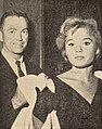 Tuesday Weld with agent Dick Clayton, 1960.jpg