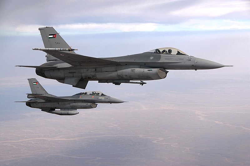 File:Two F-16 of the Royal Jordanian Air Force.jpg