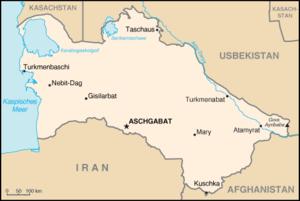 Karte von Turkmenistan