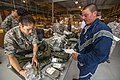 U.S. Air Force Staff Sgt. Esmeralda Ayala, left, and Senior Airman William Fairbanks, both with the 108th Wing, New Jersey Air National Guard, perform an inventory of Fairbanks' equipment May 22, 2013 130522-Z-AL508-012.jpg