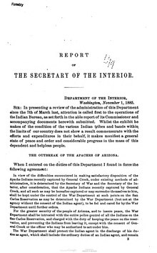 U.S. Department of the Interior Annual Report 1885.djvu