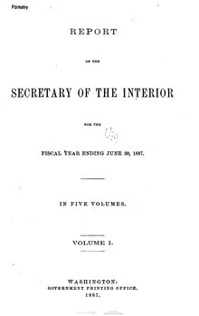 U.S. Department of the Interior Annual Report 1887.djvu