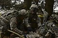 U.S. Soldiers with Iron Troop, 3rd Squadron, 2nd Cavalry Regiment provide simulated medical care to a mock casualty as part of a decisive action training environment exercise 121025-A-LE273-022.jpg