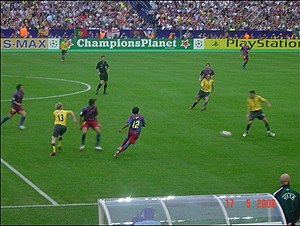 2006 UEFA Champions League Final - Play during the first half