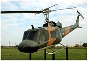 A UH-1B on display at Lackland AFB, San Antonio, Texas.