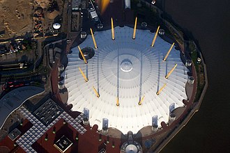 Millennium Dome - The roof seen from the air