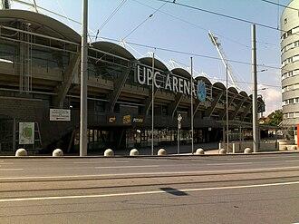 Liebenauer Stadium - Image: UPC Arena Front New
