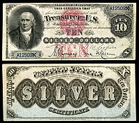 $10 Silver Certificate, Series 1878, Fr.285a, depicting Robert Morris