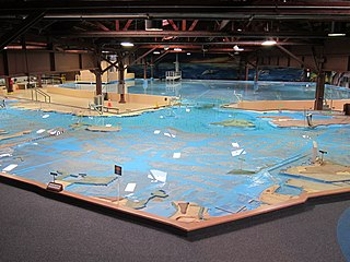 U.S. Army Corps of Engineers Bay Model working hydraulic scale model of the San Francisco Bay and Sacramento-San Joaquin River Delta System