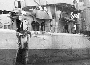 USS Endicott battle damage.jpg