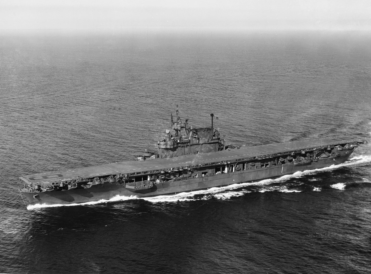 file uss enterprise  cv-6  in puget sound  september 1945 jpg