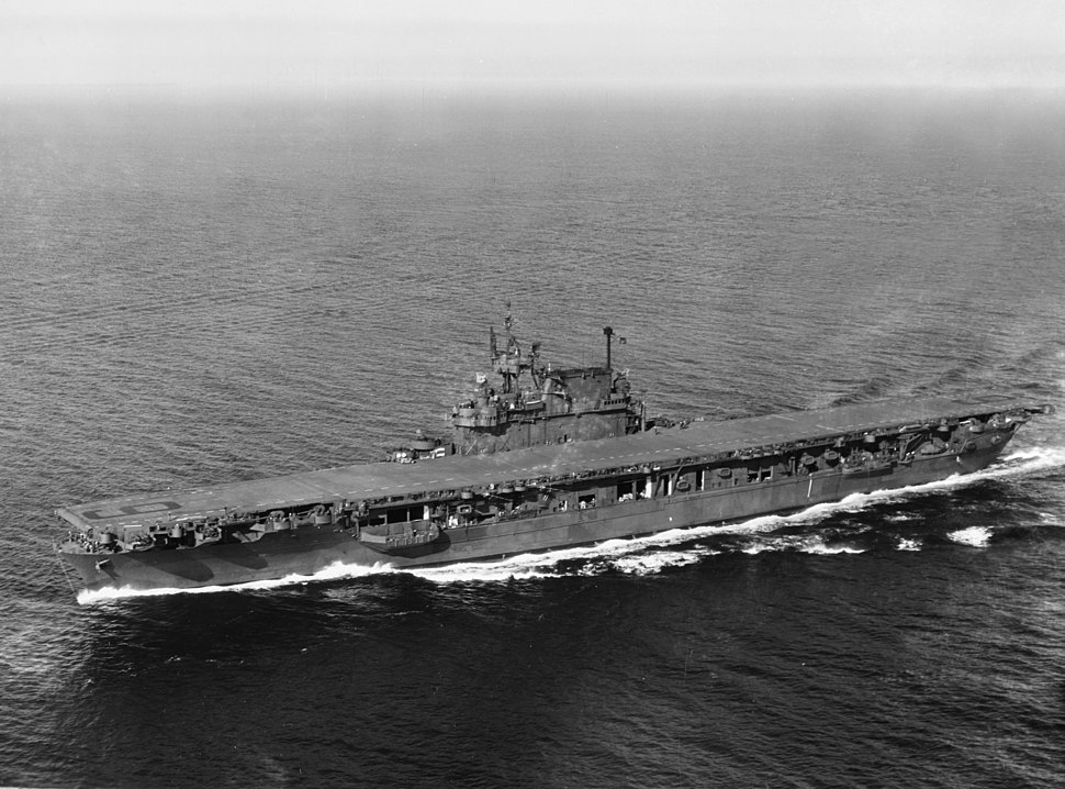 USS Enterprise (CV-6) in Puget Sound, September 1945