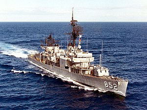 USS Leonard F. Mason in May 1974