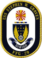 USS Stephen W. Groves (FFG-29) insignia, 1990.png
